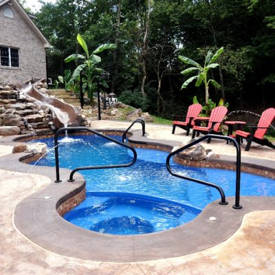 The Desert Springs is an amazing fiberglass pool model packed with surprises along every curve and turn!