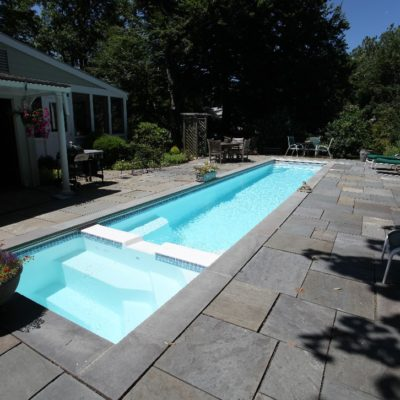 "The Marathon fiberglass swimming pool, is truly one of our most impressive fiberglass shells available! This fiberglass pool ships with a whopping size of 40' long and 8' 6"" wide! It is a perfect pool for your professional or recreational lap swimmer. Cancel that gym membership y'all - we've got the perfect pool for you!"