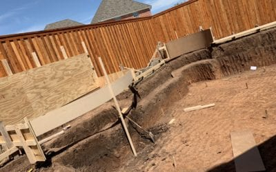 Huge Free Form Pool: Excavation